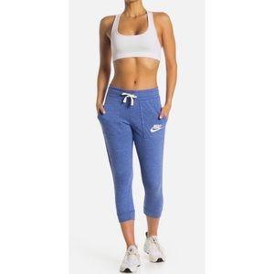 """Nike"" Vintage Gym Drawstring Capri Pants."